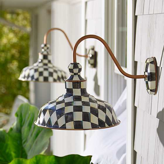 "Courtly Check Barn Sconce - 12"" image two"