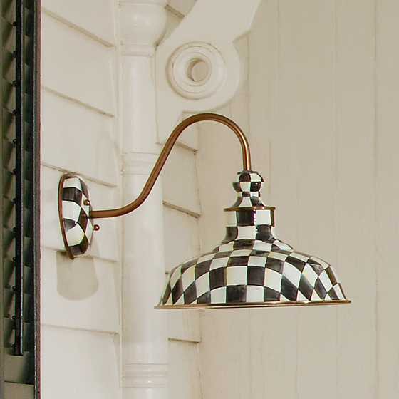 "Courtly Check Barn Sconce - 12"" image four"