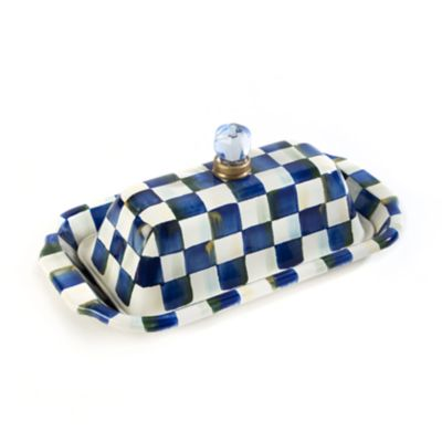 Royal Check Enamel Butter Box
