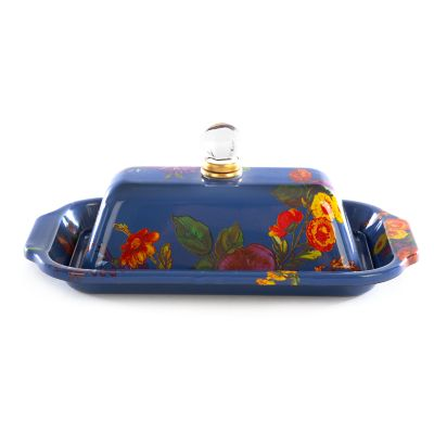 Flower Market Butter Box - Lapis