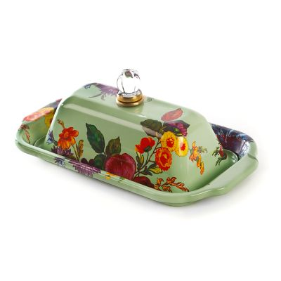 Flower Market Butter Box - Green