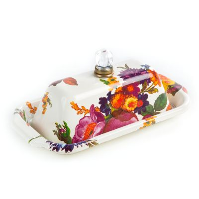 Flower Market Butter Box - White