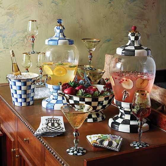 Courtly Check Enamel Beverage Hostess image six