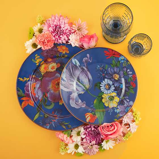 Flower Market Charger/Plate - Lapis image two