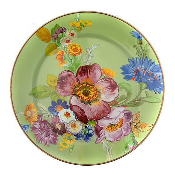 Flower Market Charger/Plate - Green image two