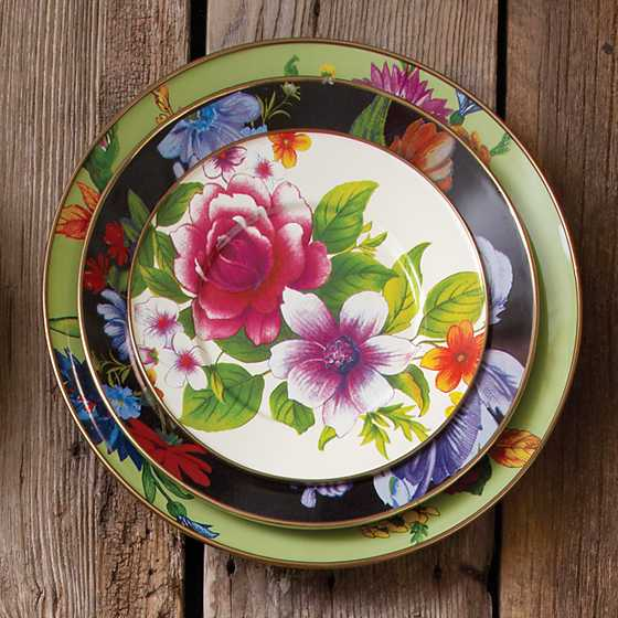 Flower Market Charger/Plate - Green image three