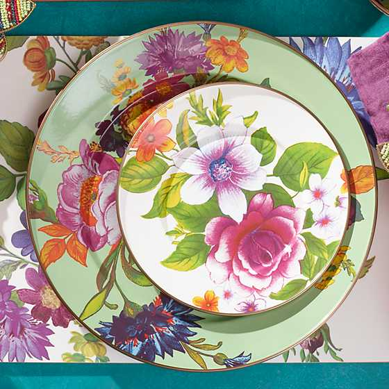 Flower Market Charger/Plate - Green image four