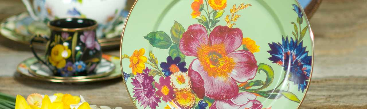 Flower Market Charger/Plate - Green Banner Image