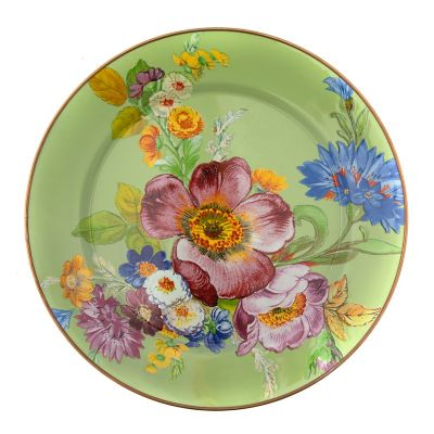 Flower Market Charger/Plate - Green