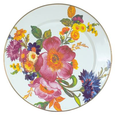 Flower Market Charger/Plate - White
