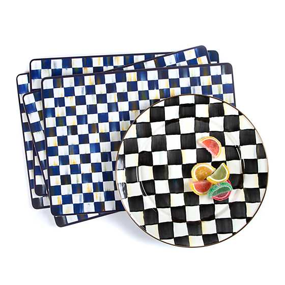 Courtly Check Enamel Charger/Plate image four