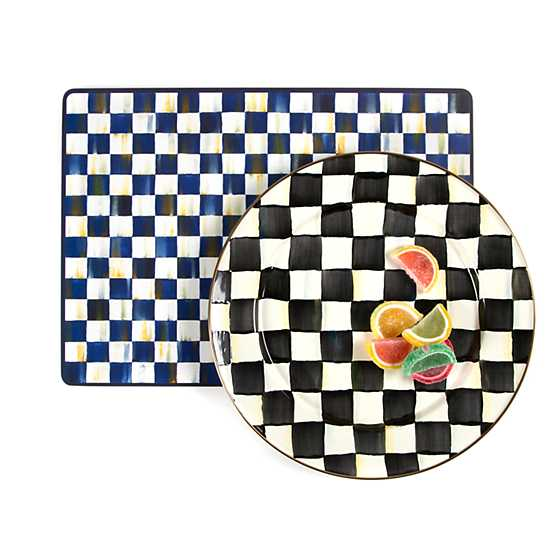 Courtly Check Enamel Charger/Plate image five