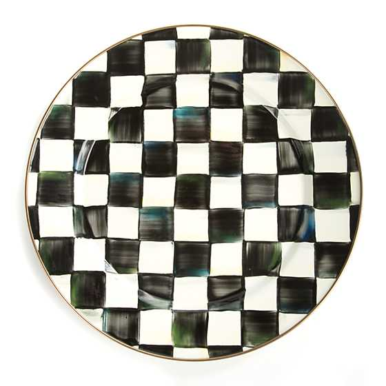 Courtly Check Enamel Charger/Plate