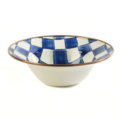 Royal Check Enamel Breakfast Bowl