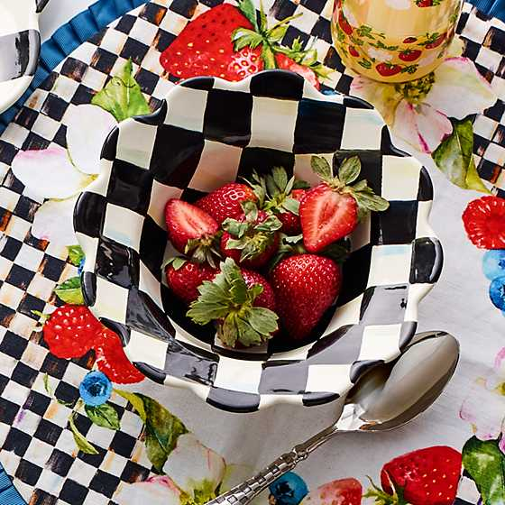 Courtly Check Enamel Petal Breakfast Bowl image five
