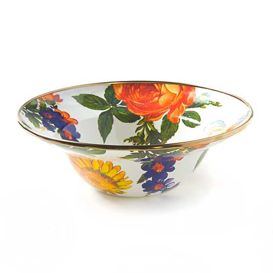 Flower Market Breakfast Bowl - White