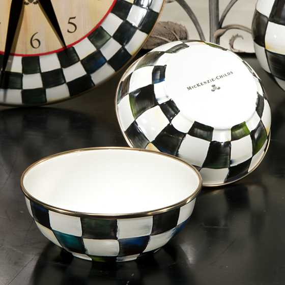 Courtly Check Enamel Everyday Bowl image two