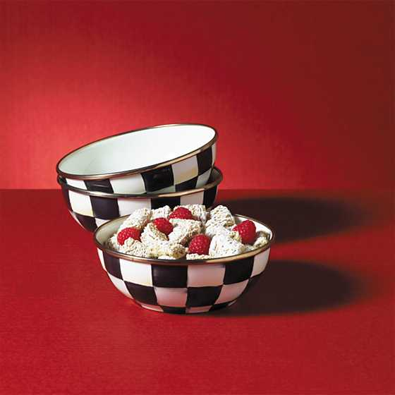 Courtly Check Enamel Everyday Bowl image six