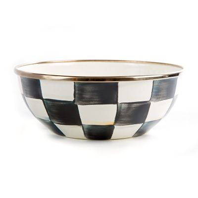 Courtly Check Enamel Everyday Bowl