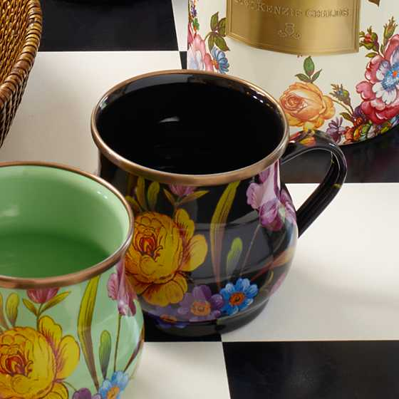Flower Market Mug - Black
