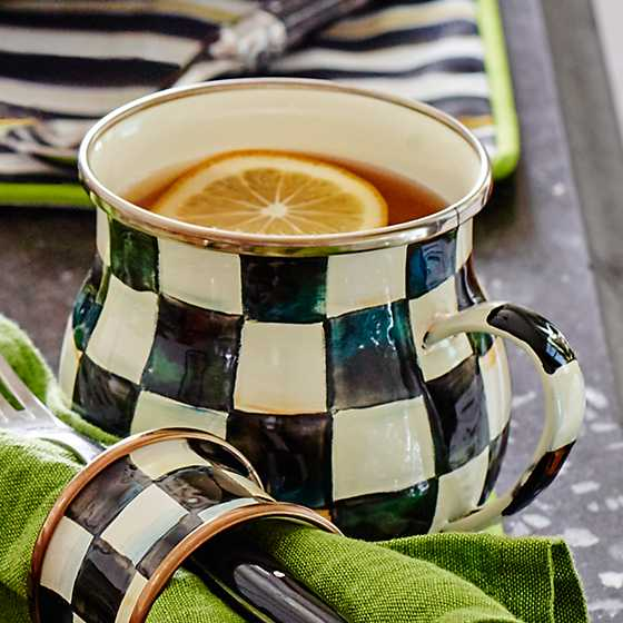 Courtly Check Enamel Mug image six