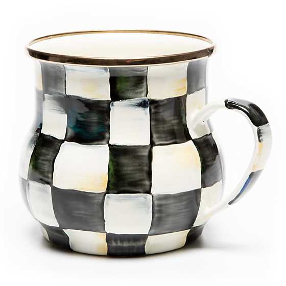 Courtly Check Enamel Mug image one