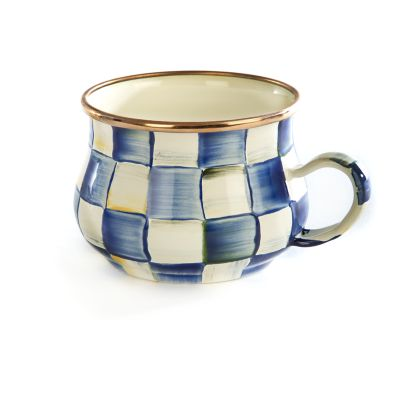 Royal Check Enamel Teacup