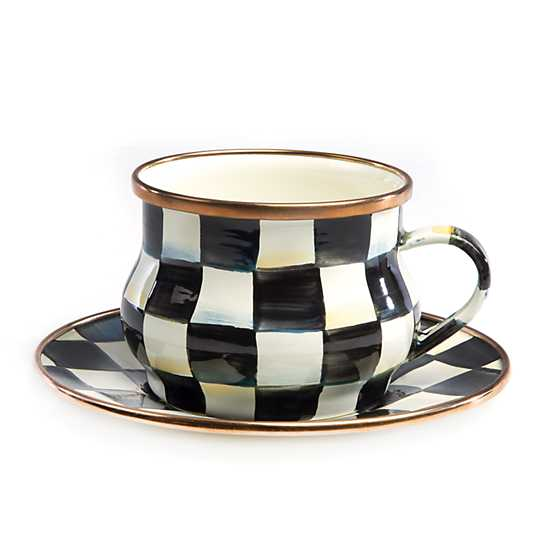Courtly Check Enamel Teacup image three