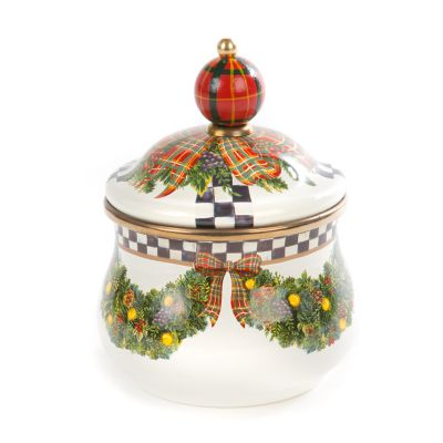 Evergreen Enamel Lidded Sugar Bowl