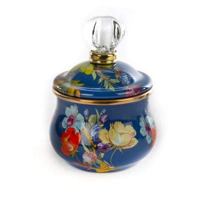Flower Market Lidded Sugar Bowl - Lapis
