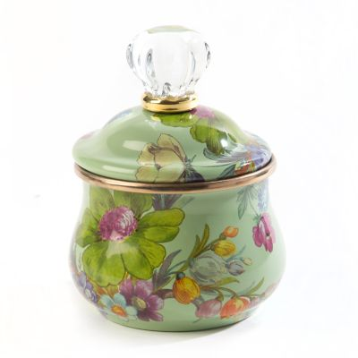 Flower Market Lidded Sugar Bowl - Green