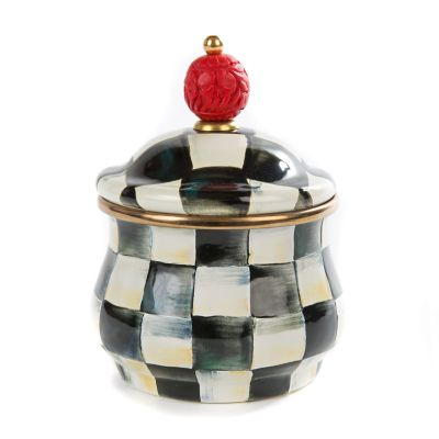 Image for Courtly Check Enamel Lidded Sugar Bowl