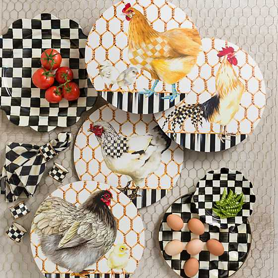 Courtly Check Enamel Petal Salad/Dessert Plate image eight