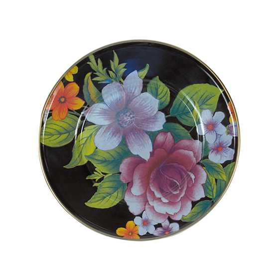 Flower Market Salad/Dessert Plate - Black image one