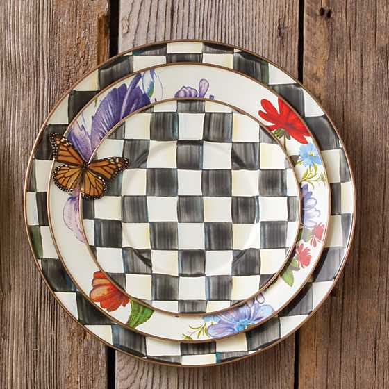 Courtly Check Enamel Salad/Dessert Plate image five