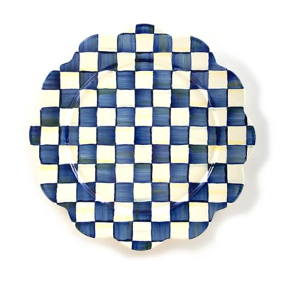 Royal Check Enamel Petal Platter