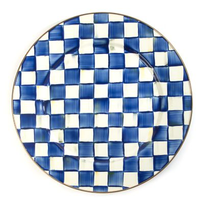 Royal Check Enamel Serving Platter