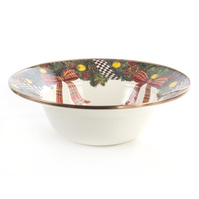 Evergreen Enamel Serving Bowl