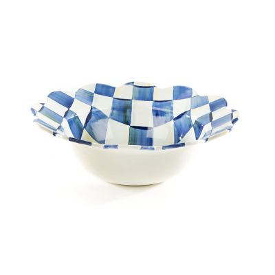Royal Check Petal Serving Bowl