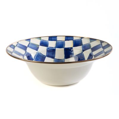Royal Check Enamel Serving Bowl