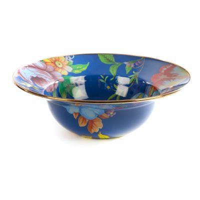 Flower Market Serving Bowl - Lapis