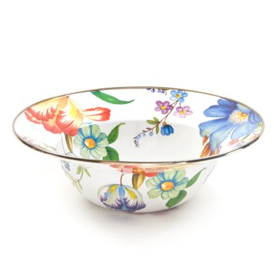 Flower Market Serving Bowl - White