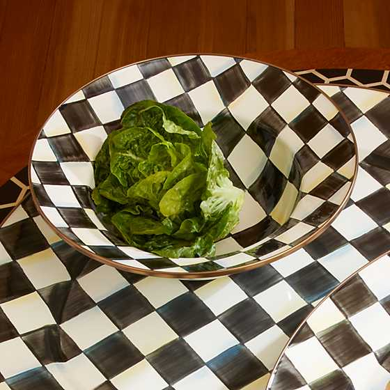 Courtly Check Enamel Serving Bowl image seven
