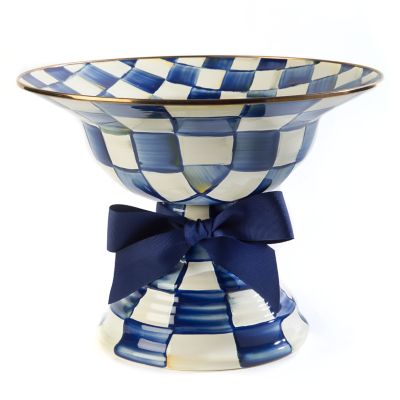 Royal Check Enamel Compote - Large