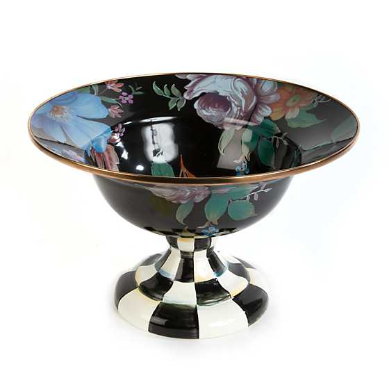 Flower Market Large Compote - Black