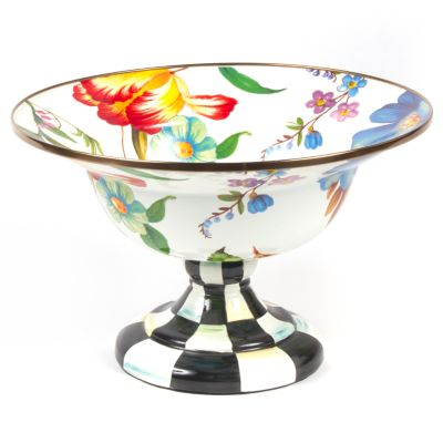 Image for Flower Market Large Compote - White