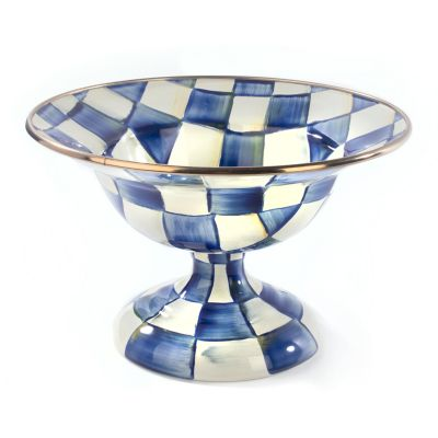 Royal Check Enamel Compote - Small