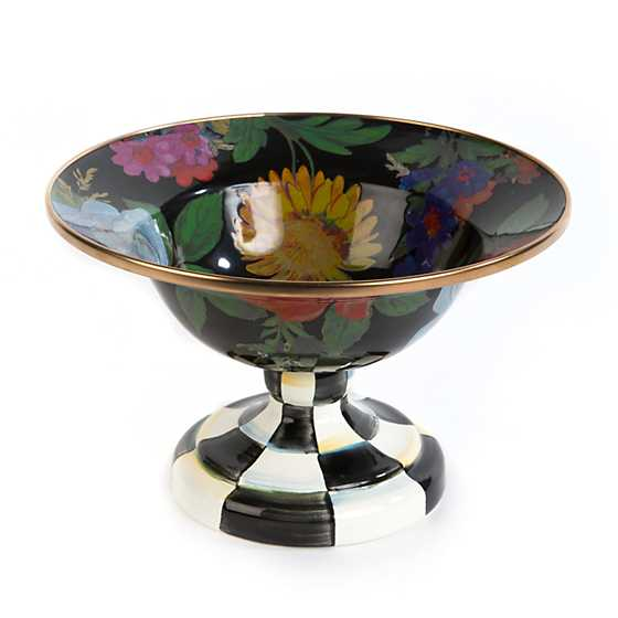 Flower Market Small Compote - Black