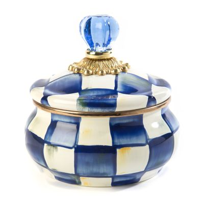 Royal Check Enamel Squashed Pot