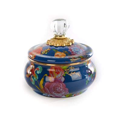 Image for Flower Market Squashed Pot - Lapis